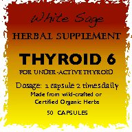 Thyroid 6 Herbal Supplement Under-active Thyroid